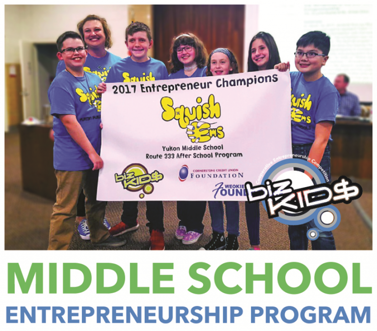 BizKid$ middle school entrepreneurship program 2017 champion group