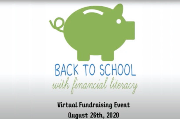 back to school with financial literacy with illustrated piggy bank