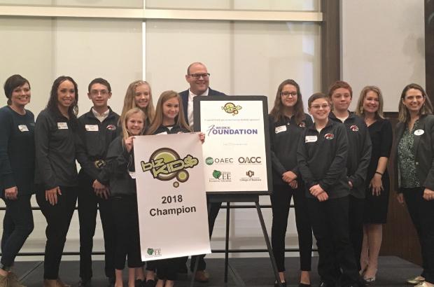 BizKid$ middle school entrepreneurship program 2018 champion group