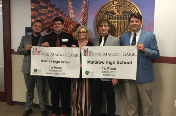 Muldrow High School students winners of 2019 spring stock market game